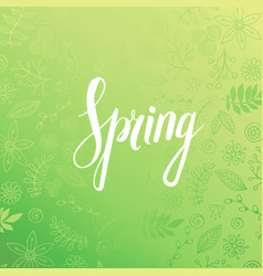 design banner with spring is here logo vector image