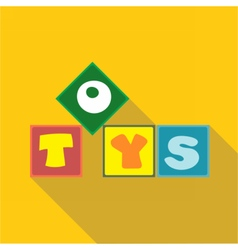 Digital toys box letters vector