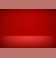 empty stage red background for presentation vector image