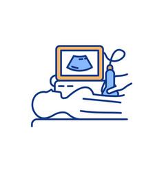 fetal ultrasound rgb color icon vector image