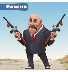 Fictional cartoon character - bandit Pancho vector image