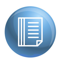 file folder icon outline style vector image