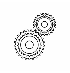 Gear mechanism icon outline style vector image