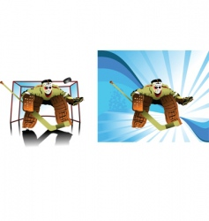 goalkeeper cartoon vector image