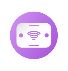 Icon design pocket wifi for travelling around vector