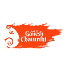 Indian lord ganesha festival card in creative vector