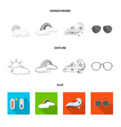 Isolated object of weather and climate sign set vector