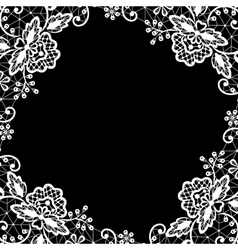Lace on black background vector