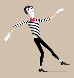 Mime performance - walking the line vector
