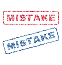 Mistake textile stamps vector