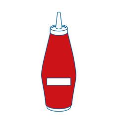 Mustard in bottle vector