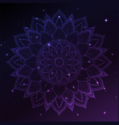 Ornament invitation card with mandala geometric vector