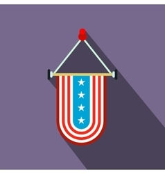Pennant with the national flag of USA flat icon vector