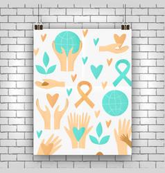 philanthropy design donation concept vector image