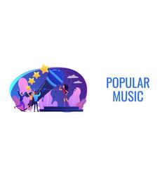 popular music concept banner header vector image