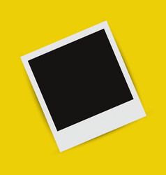 Realistic picture frame on a yellow background vector