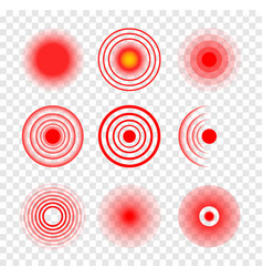 Red target circle medical ripple sore hurt vector