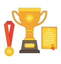 Rophy and awards flat style - vector