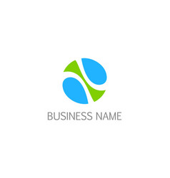 round abstract eco design logo vector image