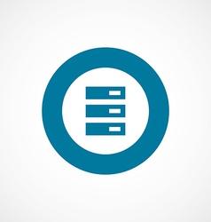 server bold blue border circle icon vector image
