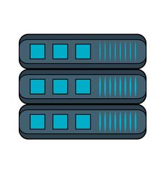 servers storage database vector image