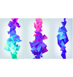 Set of abstract facet 3d shapes geometric vector