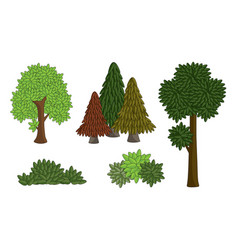 set various tree vector image
