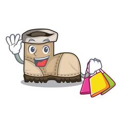 Shopping working boot in shape cartoon beautiful vector