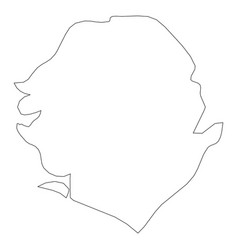 Sierra leone - solid black outline border map of vector