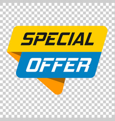 Special offer banner badge icon on isolated vector