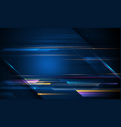 Speed and motion blur over dark blue background vector