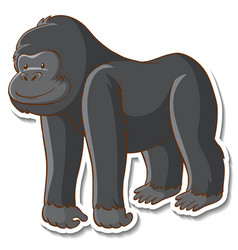 sticker design with a gorilla isolated vector image