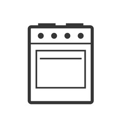 Stove - oven and hob outline single isolated vector