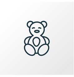 Teddy bear icon line symbol premium quality vector