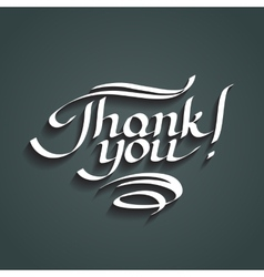 Thank you hand-drawn lettering vector image