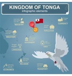 Tonga infographics statistical data sights dove vector