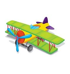 Toy propeller plane vector