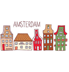 traditional dutch houses vector image