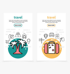 travel vertical banners vector image