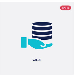 Two color value icon from big data concept vector
