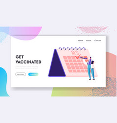 Vaccination planning medicine health care website vector