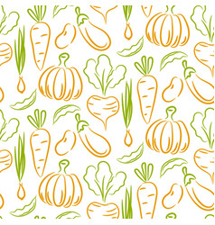 vegetable sketch style seamless pattern vector image