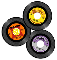 Vintage 45 record label designs 2 vector