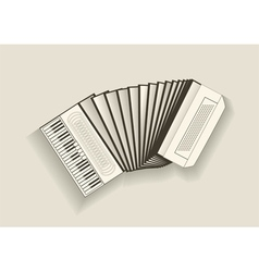 Vintage accordion vector