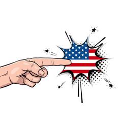 vintage poster uncle sam show hand ask vote 2020 vector image