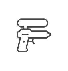 water gun line icon vector image