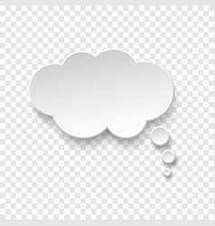 white blank paper speech bubble vector image
