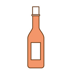 wine bottle isolated icon vector image