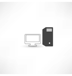 Black and white computer vector image vector image