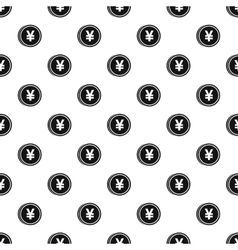 Coin with yen sign pattern simple style vector image vector image